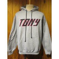 ■トニータイズサン【Tony Taizsun】スエットプルオーバー TONY■グレー■(メンズ)M/Lサイズ