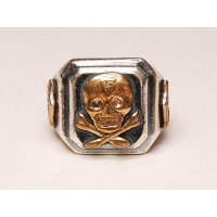 HTC(Hollywood Trading Company) HTC MEXICAN RING 13SKULL SILVER サイズ US8(17号)/US9(19号)