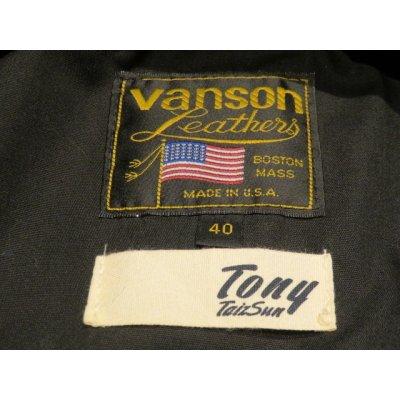 画像4: トニータイズサン(TONY TAIZSUN)×バンソン(VANSON)VANSON X TONY TAIZSUN DOUBLE RIDERS LEATHER JACKET■ブラック■(メンズ)38サイズ