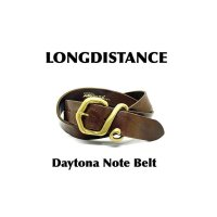 ■ロングディスタンス(LONGDISTANCE)■Daytona Note Belt(old model)■Choco■W30/W32/W34/W36