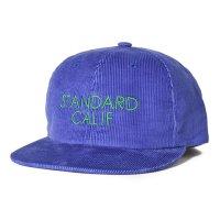 (STANDARD CALIFORNIA/スタンダードカリフォルニア) SD Corduroy Logo Cap ブラウン/ブラック/ブルー