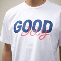 TURN ME ON(ターンミーオン) S/S TEE『GOOD DAY』 (WHITE) (MENS)M/L/XLサイズ