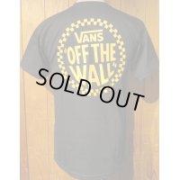 ■バンズ(VANS)■半袖バックプリントシャツ VANS OFF THE WALL■ブラック■メンズ US(S)サイズ