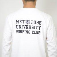 TURN ME ON(ターンミーオン) L/S TEE『WTU. SURFING CLUB』(WHITE) (MENS)M/Lサイズ