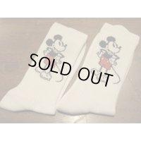 ■ジャクソンマティス(JACKSON MATISSE)×ディズニー(Disney)■Mickey Mouse Socks■ホワイト■クリックポスト対応商品(送料198円)