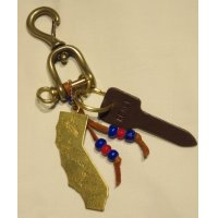 RE.ACT「 New vintage Snap hook Key holder 」California