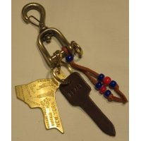 RE.ACT「 New vintage Snap hook Key holder 」New York クリックポスト対応商品(送料198円)